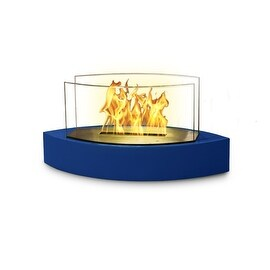 Lexington(High Gloss Blue) Table Top Bio Ethanol Ventless Fireplace