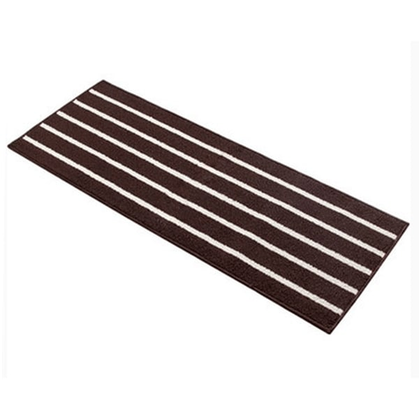 Simple Stripe Long Ground Floor Door Mat Carpet 43x110cm - Coffee