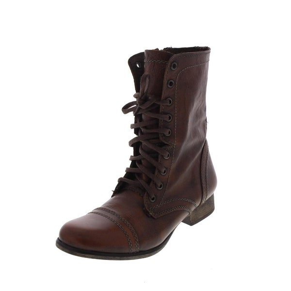 76dbced8fa3 Shop Steve Madden Womens Troopa Combat Boots Leather Lace Up - Free ...