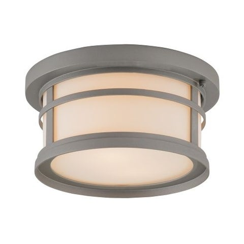 "Park Harbor PHEL1204 Nottoway 12"" Wide 2 Light Flush Mount Outdoor Ceiling Fixture"
