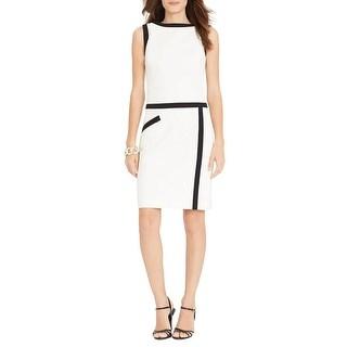 Lauren by Ralph Lauren Colorblocked Sleeveless Sheath Dress - 4