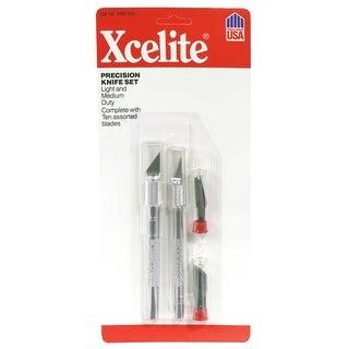 "Xcelite XNS100 Light & Medium Duty Hobby Knife Set, 5-13/16"""