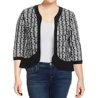 R&M Richards Womens Jacket Sequined 3/4 Sleeves