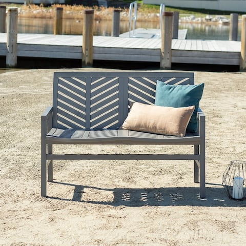 Elephant Point 48-inch Outdoor Chevron Love Seat