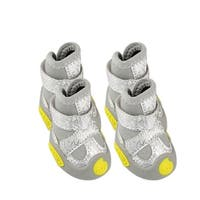 Pet Yellow Word Antislip Bottom Gray Boots Shoes Size 1