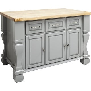 "Jeffrey Alexander ISL01 Tuscan Collection 54 x 34"" Kitchen Storage Island"