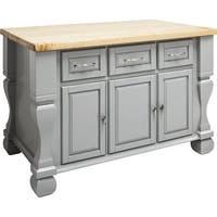 Jeffrey Alexander ISL01 Tuscan Collection 54 x 34 Inch Kitchen Storage Island - N/A