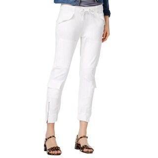Hudson Jeans Cargo Flight Pants White
