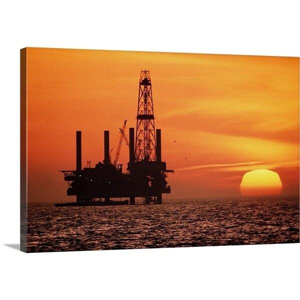 Shop Premium Thick-Wrap Canvas entitled Silhouette of oil