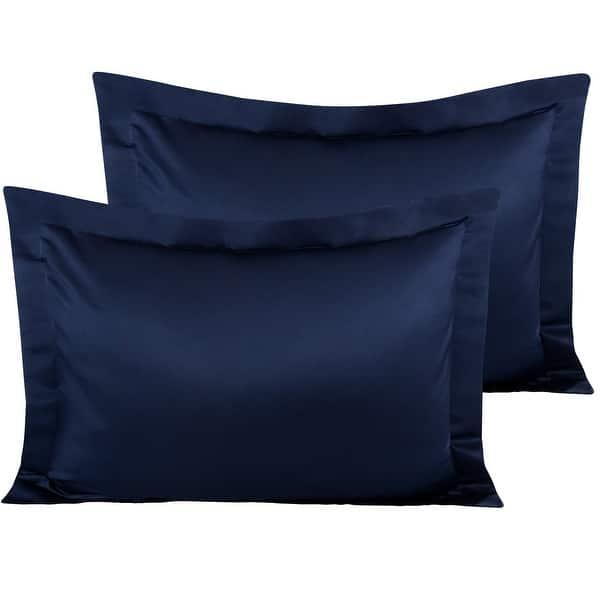 1800 Satin Silky Pillow Sham Set Standard Queen King Ultra Soft Pillow Shams 2PC