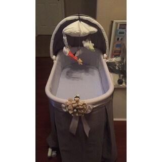 Badger Basket 'Wishes' Oval Bassinet Full-Length Skirt