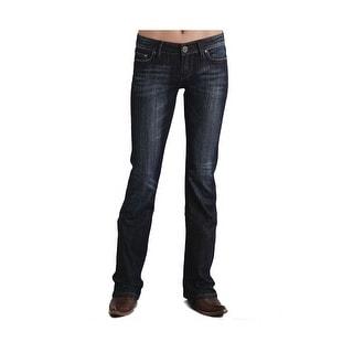 Stetson Western Denim Jeans Womens Rhinestone Dark 11-054-0818-0703 BU