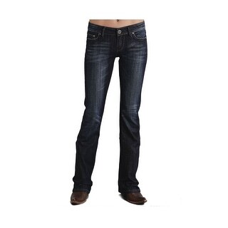 Stetson Western Denim Jeans Womens Rhinestone Dark