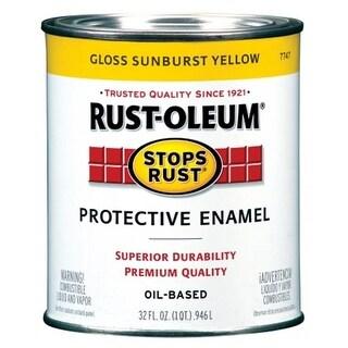 Rustoleum 1 Quart Sunburst Yellow Protective Enamel Oil Base Paint