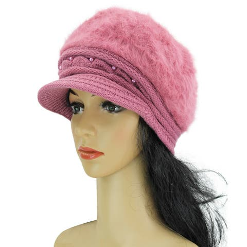 Women's Chic hats Fashion hats Beret Wool Beanie Winter Hat with visor