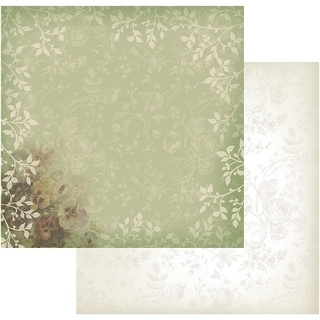 "Hearts Ease Double-Sided Paper 12""X12""-Green Lace"