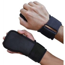 Weight Lifting Straps With Adjustable Wrist Support Wrap and Palm Pads LG-4 - Black