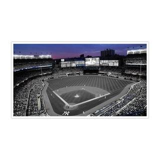 New York Yankees - Yankee Stadium Touch of Color Baseball Ballparks Matte Poster 24x14