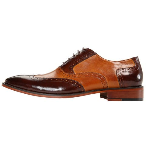 Asher Green Two Tone Genuine Calf Leather Wingtip
