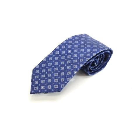The Men's Store Navy Blue Heathered Medallion Men's Neck Tie Silk