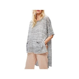 Free People Womens Pullover Sweater Melange Hi-Low