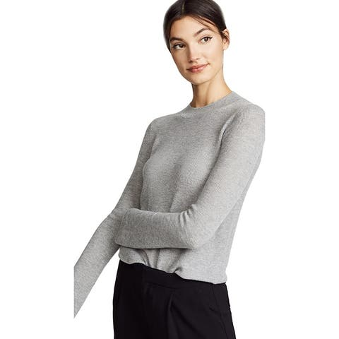 Vince Womens Flare Crew Neck, Heather Steel, Xsmall