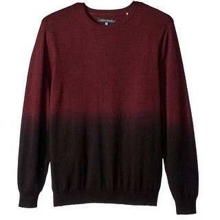 VINCE CAMUTO NEW Red Mens Size Medium M Dip-Dye Crewneck Sweater