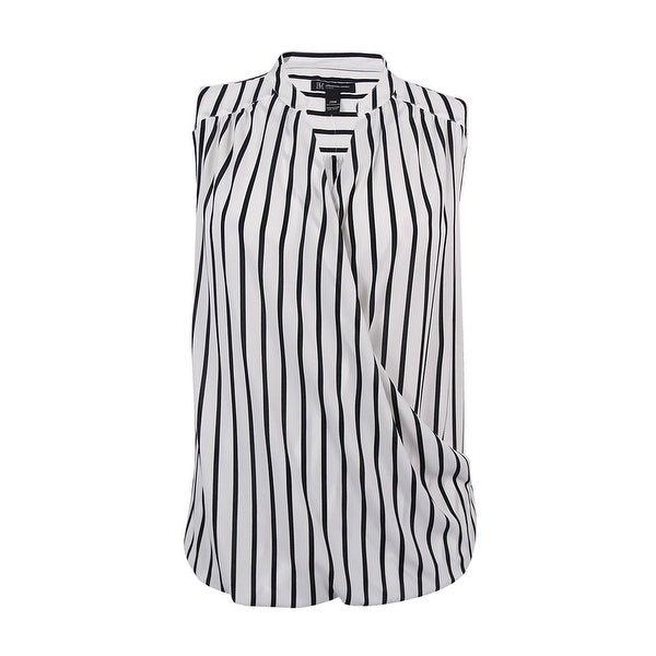 7e2b7a9668520c Shop INC International Concepts Women s Striped Surplice Top (10 ...