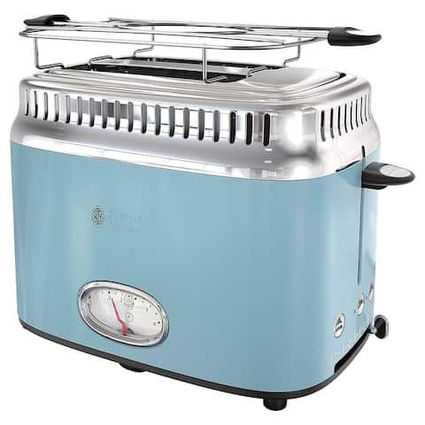 Russell Hobbs Old School 2 Slice Toaster in Blue