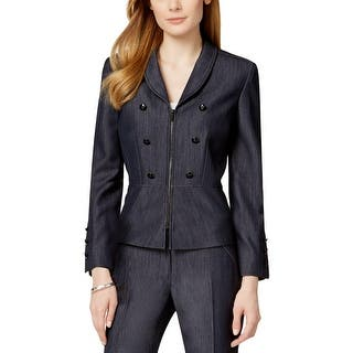 Tahari ASL Womens Nicola Double-Breasted Blazer Peplum Zip Front|https://ak1.ostkcdn.com/images/products/is/images/direct/def2c507637f00fe39039dcb653be4b14f8fc2bd/Tahari-ASL-Womens-Nicola-Double-Breasted-Blazer-Peplum-Zip-Front.jpg?impolicy=medium