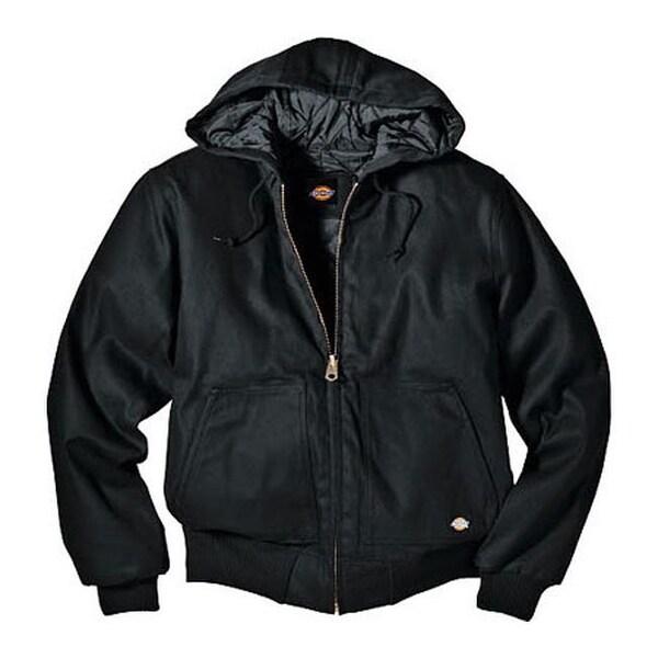 Shop Dickies Men S Rigid Duck Hooded Jacket Tall Black