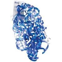 Blue & White Iridescent - Curl Swirls
