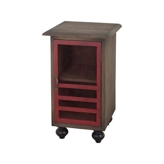 "GuildMaster 6416523  18"" Wide Mahogany Accent Cabinet - Legacy Red"