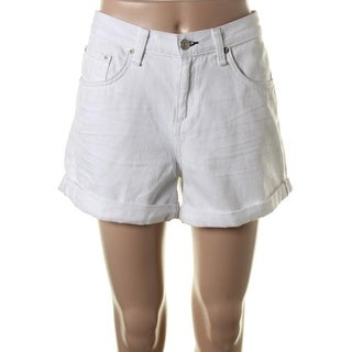 Rag & Bone Womens Mila Denim Cuffed Denim Shorts