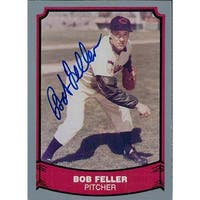 Signed Feller Bob Cleveland Indians 1988 Pacific Trading Baseball Card autographed