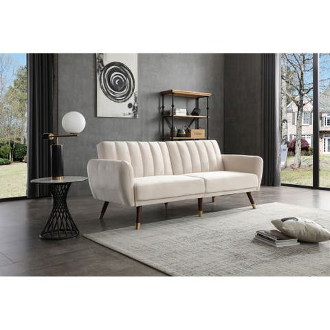 Siena Collection Sofa Bed in Velvet Upholstery