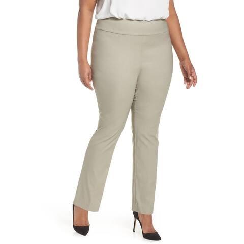 NIC+ZOE Womens Dress Pants Gray Size 20W Plus Pull-On WonderStretch
