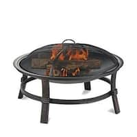 Blue Rhino WAD15121MT BRUSHED COPPER WOOD BURNING OUTDOOR FIREBOWL - Black