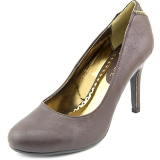 Rampage Omare Women  Round Toe Synthetic Brown Heels