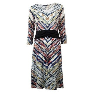 Miraclesuit Women's Printed Long Sleeve Dress - Ivory White