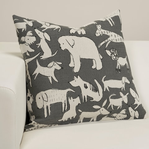 Woof Designer Throw Pillow