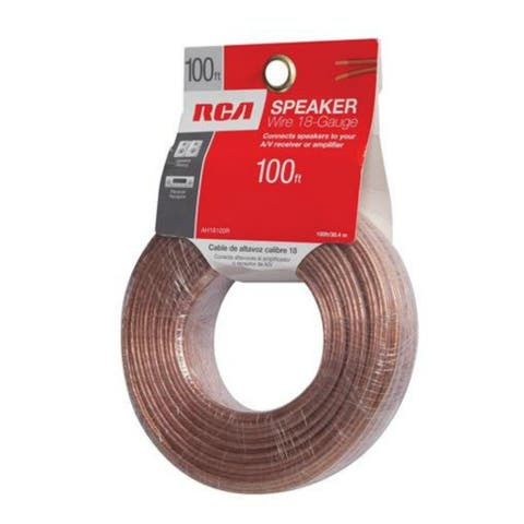GE/RCA RCAAH18100RB RCA 18-Guage Speaker Wire - 100 Feet