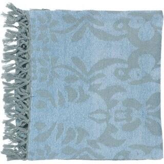 "Surya TST2000-5070 50"" X 70"" Indoor Throw Blanket From The Tristen Collection - Blue"