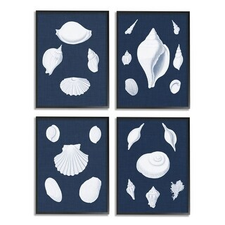 Link to Stupell Industries White Nautical Beach Shells Minimal Deep Blue Framed Wall Art Similar Items in Canvas Art