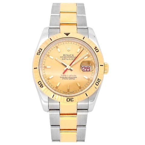 Pre-owned 36mm Rolex Two Tone Datejust Watch - 7 inches