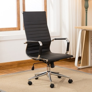 Belleze Modern High-Back Ribbed Upholstered Conference Office Chair