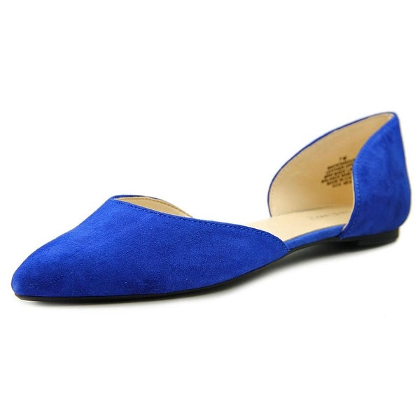 Nine West Stardust Women Pointed Toe Suede Blue Flats