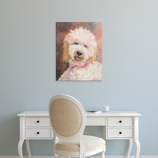 Easy Art Prints Edie Fagan's 'Honey Goldendoodle' Premium Canvas Art
