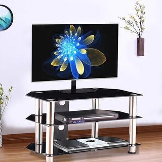 Costway TV Stand Rack Shelf Entertainment Livingroom Organizer Media Audio Storage