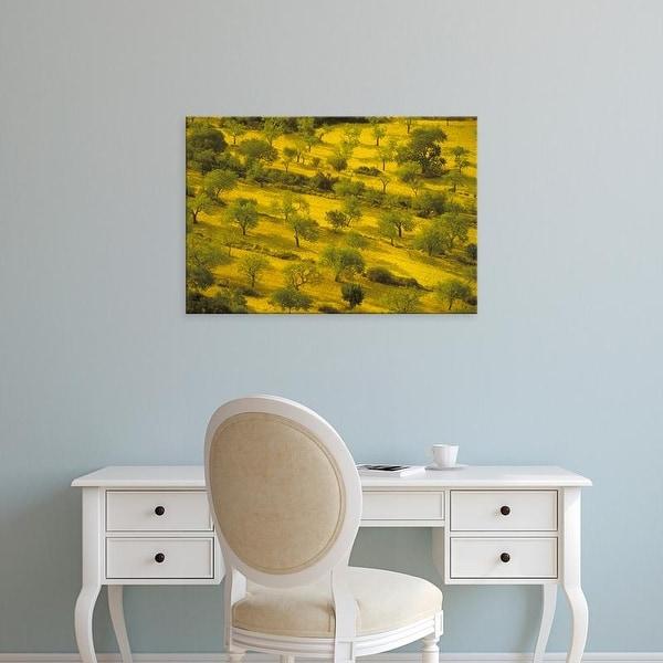 Easy Art Prints Walter Bibikow's 'Randa Morning View Of Farmland' Premium Canvas Art